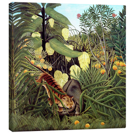 Canvas  Combat of Tiger and Buffalo - Henri Rousseau
