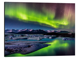 Aluminium print  Northern Lights in Iceland - Sascha Kilmer