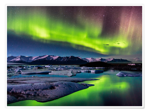 Premium poster Northern Lights in Iceland