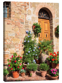 Canvas print  House entrance in Monticchiello - Julie Eggers