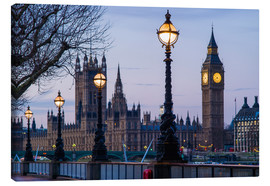Canvas  Houses of Parliament and Big Ben - Walter Bibikow