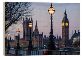 Wood  Houses of Parliament and Big Ben - Walter Bibikow