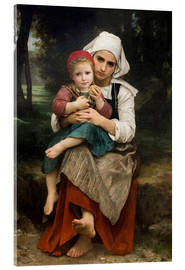 Acrylic print  Breton Brother and Sister - William Adolphe Bouguereau