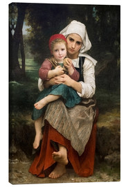 Canvas print  Breton Brother and Sister - William Adolphe Bouguereau