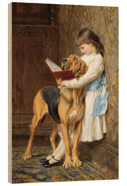 Wood print  Compulsory education - Briton Riviere