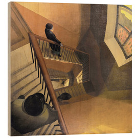 Wood print  The Staircase - Leonid Terentievich Chupiatov