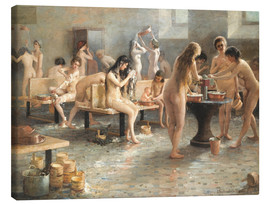 Canvas print  In the bath house - Vladimir Alexandrovich Plotnikov