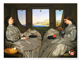 Premium poster  The Travelling Companions - Augustus Leopold Egg