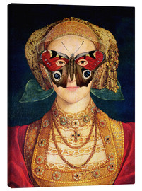 Canvas print  The butterfly mask (by Hans Holbein)