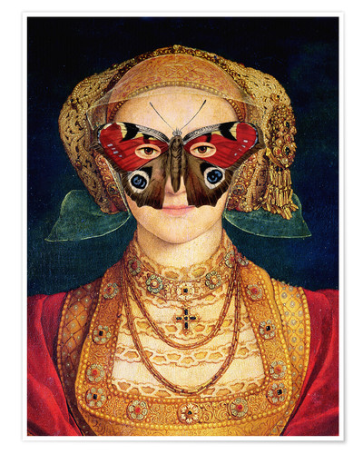 Premium poster The butterfly mask (by Hans Holbein)