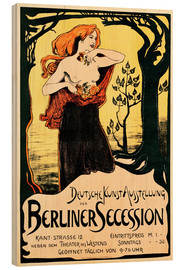 Wood print  Poster Berlin Secession - Ludwig von Hofmann