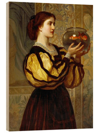Wood print  The Goldfish Bowl - Charles Edward Perugini