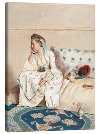 Canvas print  Portrait of Marie Fargues - Jean Etienne Liotard