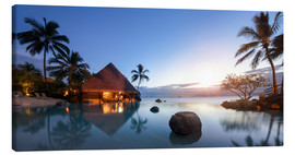 Canvas print  Infiniti pool by the sea in Tahiti, French Polynesia - Jan Christopher Becke