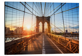 Jan Christopher Becke - Brooklyn Bridge in NY at sunrise