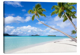Canvas print  White beach with palm trees, Tahiti, French Polynesia - Jan Christopher Becke
