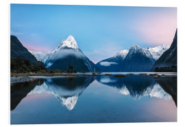Foam board print  Milford Sound, New Zealand - Matteo Colombo
