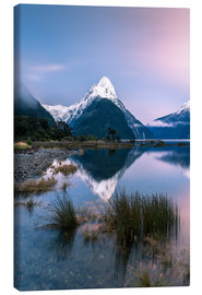 Canvas print  Landscape: sunrise at Milford Sound, Fjordland National park, New Zealand - Matteo Colombo