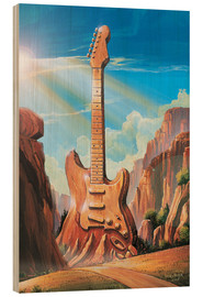 Wood print  Guitar Rock - Georg Huber