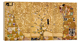 Wood print  The tree of life (Detail) - Gustav Klimt