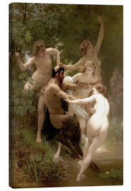Canvas print  Nymphs and Satyr - William Adolphe Bouguereau