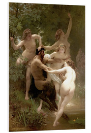 Foam board print  Nymphs and Satyr - William Adolphe Bouguereau