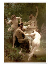 Premium poster  Nymphs and Satyr - William Adolphe Bouguereau