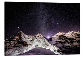 Peter Wey - Eiger, Monch and Jungfrau mountain peaks at night