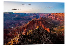 Acrylic print  Sunset scenery from Grand Canyon South Rim, Grand Canyon National Park, USA - Peter Wey