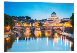 Foam board print  St. Peter and Tiber, Rome - Matteo Colombo