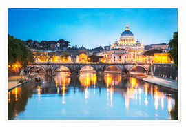Premium poster  St. Peter and Tiber, Rome - Matteo Colombo