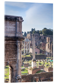 Acrylic print  Ruins of the ancient roman forum - Matteo Colombo