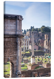 Canvas  Ruins of the ancient roman forum - Matteo Colombo
