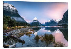 Canvas print  Sunrise at Milford Sound, NZ - Matteo Colombo