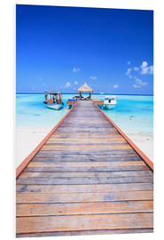 Foam board print  Pier into the ocean, Maldives - Matteo Colombo