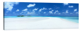 Canvas print  Beach Panorama, Maldives - Matteo Colombo