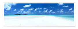 Premium poster Beach Panorama, Maldives