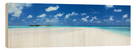 Wood print  Beach Panorama, Maldives - Matteo Colombo