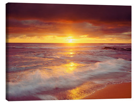 Canvas print  Sunset on the Pacific - Jaynes Gallery