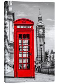 Canvas print  London phone booth - euregiophoto