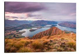 Aluminium print  Wanaka lake, New Zealand - Matteo Colombo