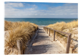Acrylic print  Way to the beach on the Baltic Sea - Christian Müringer