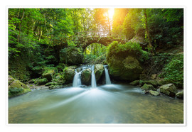 Premium poster  romantic waterfall - rclassen