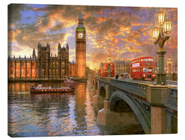 Canvas print  Westminster sunset - Dominic Davison