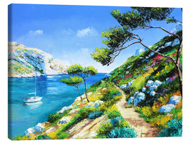Canvas print  Walking in the cove - Jean-Marc Janiaczyk