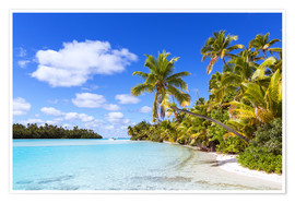 Premium poster Beautiful of One Foot Island, Cook Islands