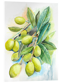 Acrylic glass  Olives 2 - Maria Földy