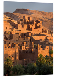 Acrylic print  Kasbah Ait Benhaddou near Ouarza - Lee Frost