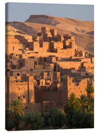 Canvas  Kasbah Ait Benhaddou near Ouarza - Lee Frost