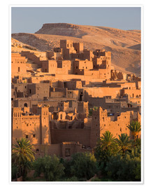 Premium poster  Kasbah Ait Benhaddou near Ouarza - Lee Frost